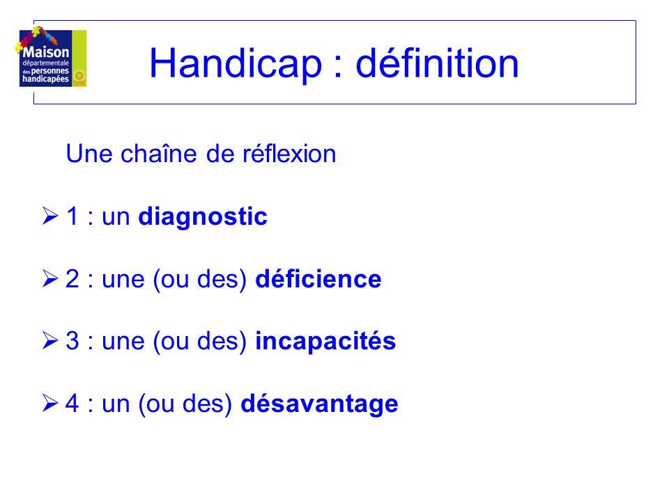 Handicap : définition Une chaîne de réflexion 1 : un diagnostic