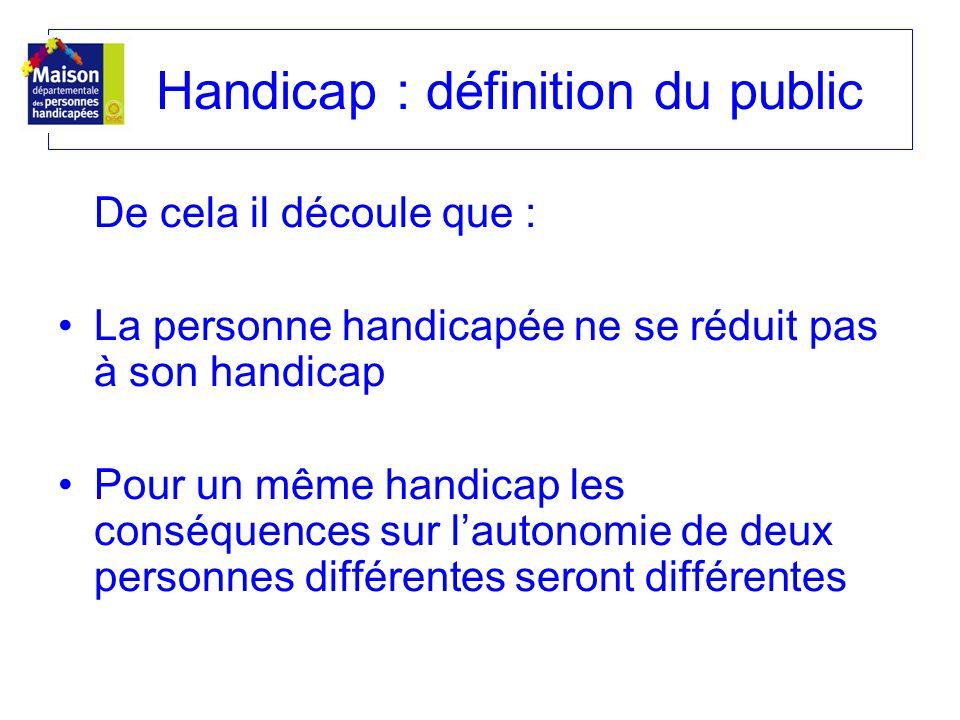 Handicap : définition du public