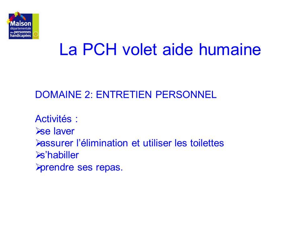 La PCH volet aide humaine