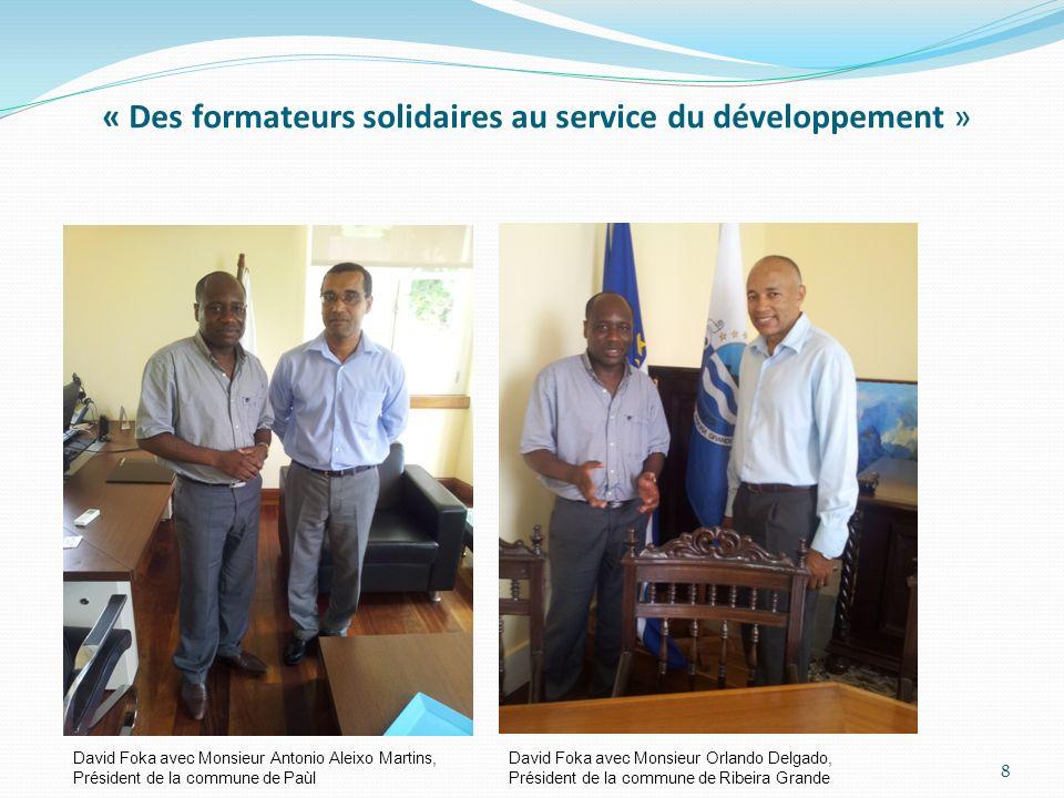 « Des formateurs solidaires au service du développement »