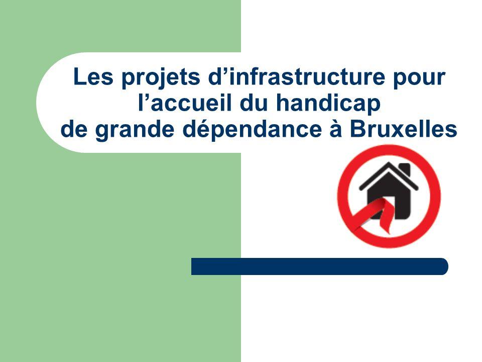 Les projets d'infrastructure pour l'accueil du handicap de grande dépendance à Bruxelles