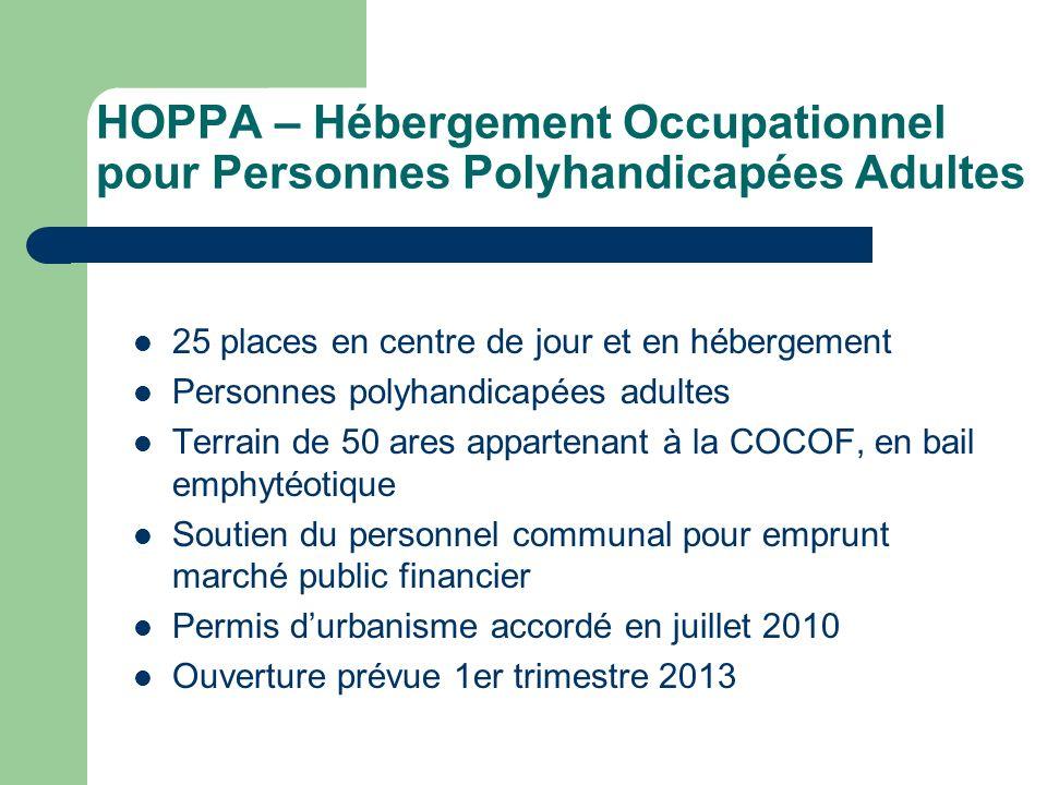 HOPPA – Hébergement Occupationnel pour Personnes Polyhandicapées Adultes