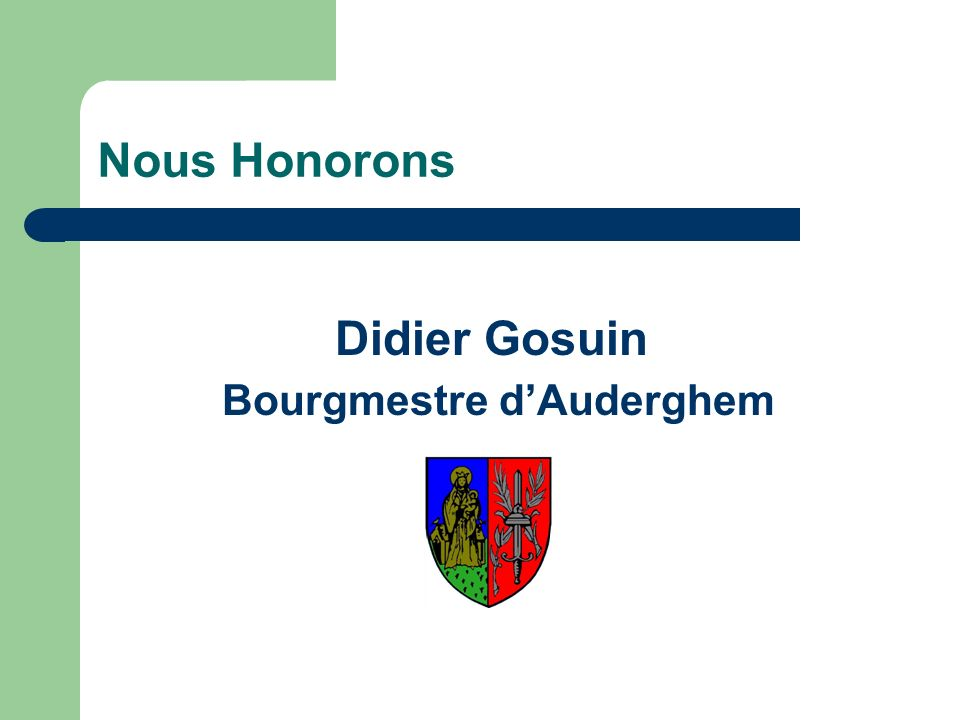 Bourgmestre d'Auderghem