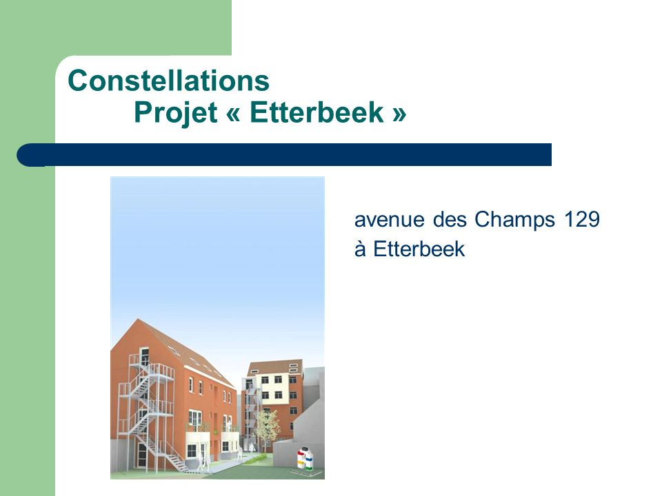 Constellations Projet « Etterbeek »