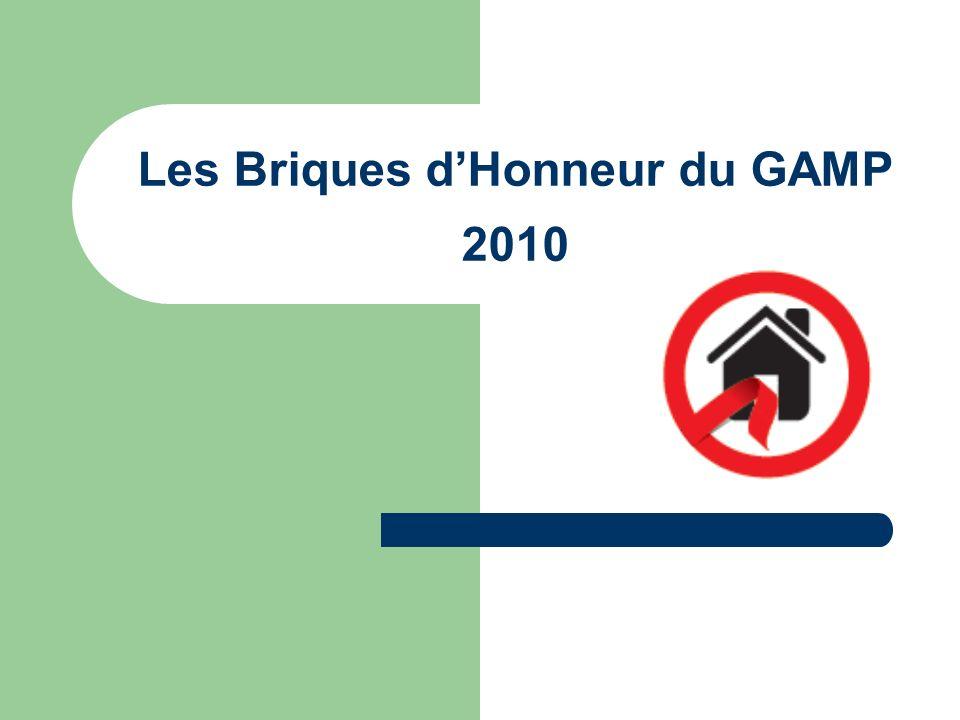 Les Briques d'Honneur du GAMP 2010