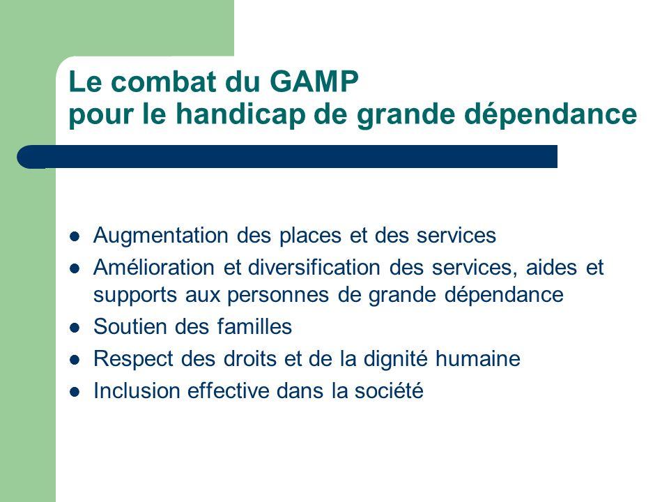 Le combat du GAMP pour le handicap de grande dépendance