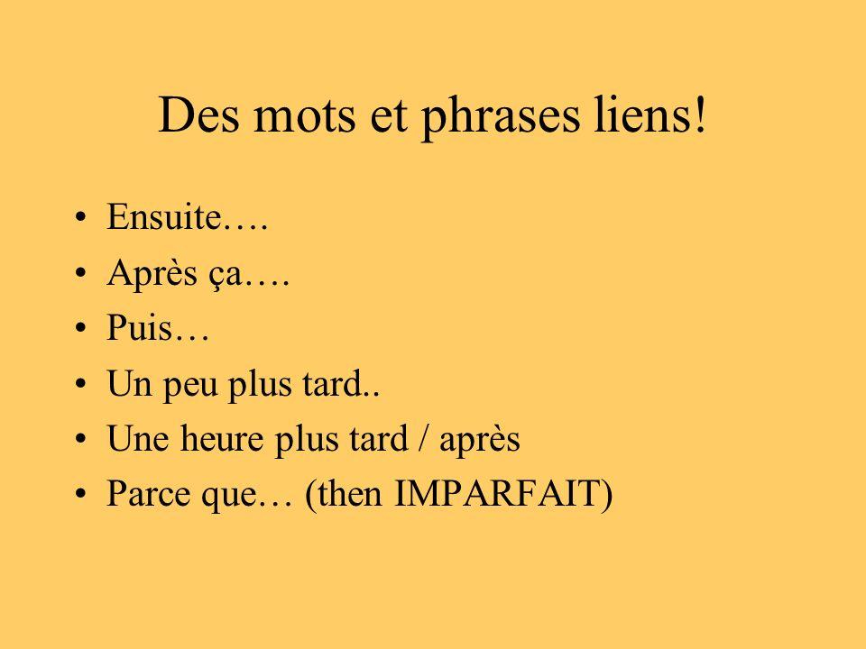 Des mots et phrases liens!
