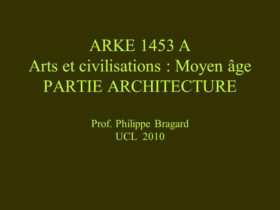 ARKE 1453 A Arts et civilisations : Moyen âge PARTIE ARCHITECTURE Prof