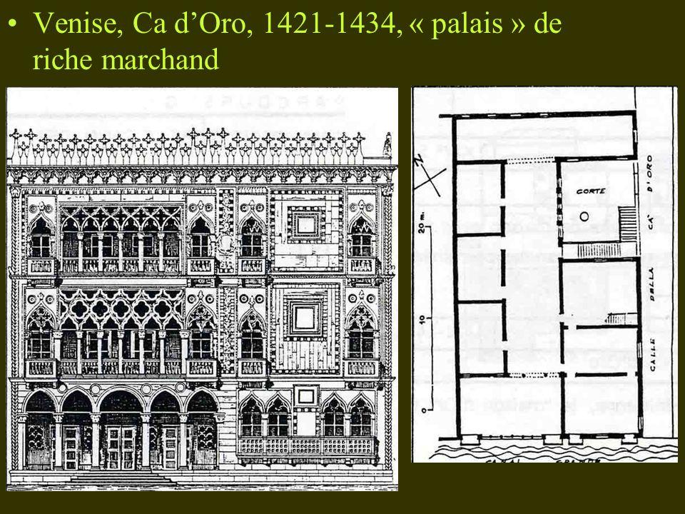 Venise, Ca d'Oro, 1421-1434, « palais » de riche marchand