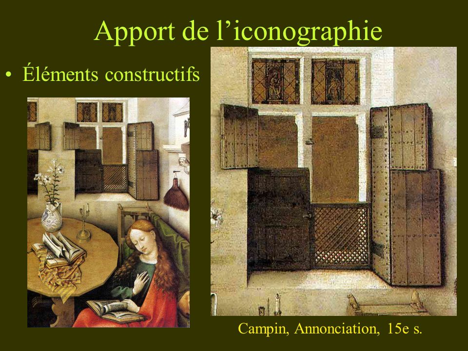 Apport de l'iconographie