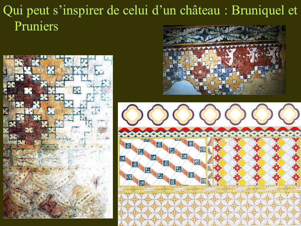 Qui peut s'inspirer de celui d'un château : Bruniquel et Pruniers