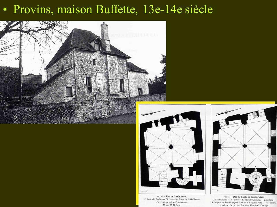 Provins, maison Buffette, 13e-14e siècle