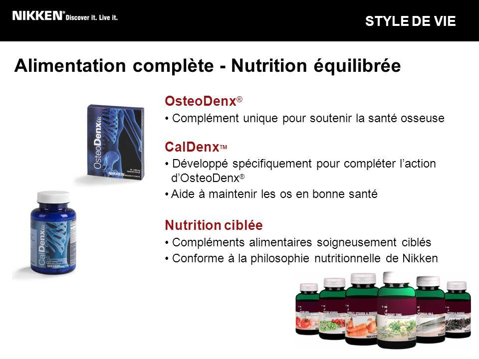 Alimentation complète - Nutrition équilibrée