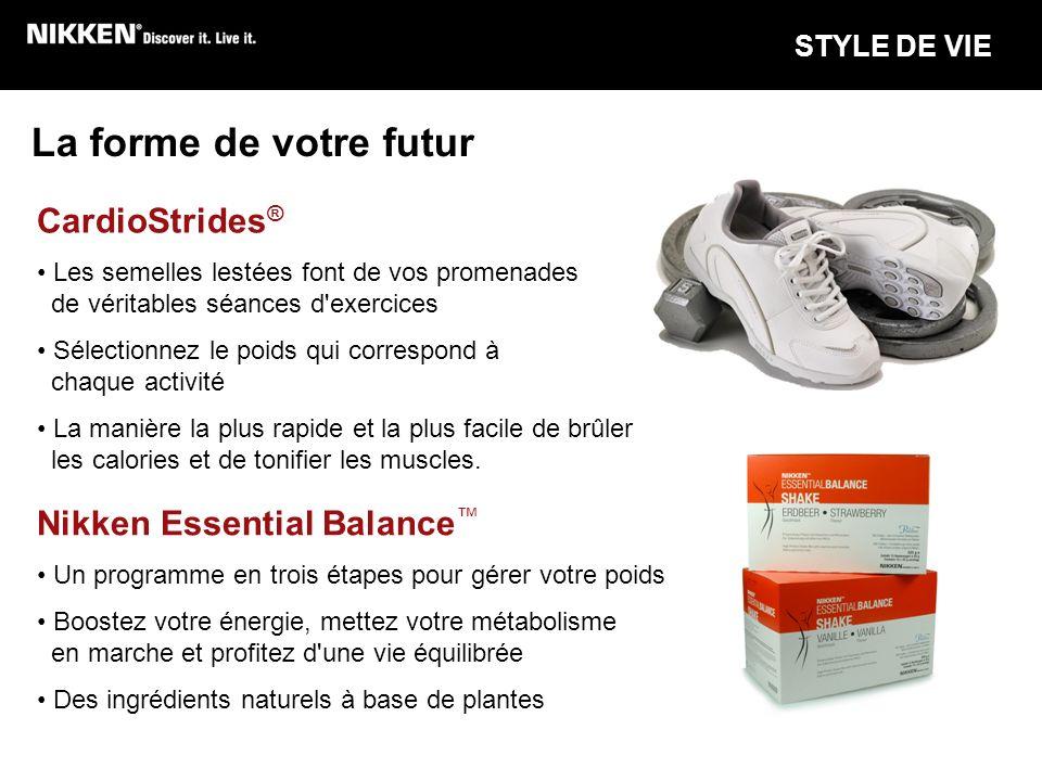 La forme de votre futur CardioStrides® Nikken Essential Balance™
