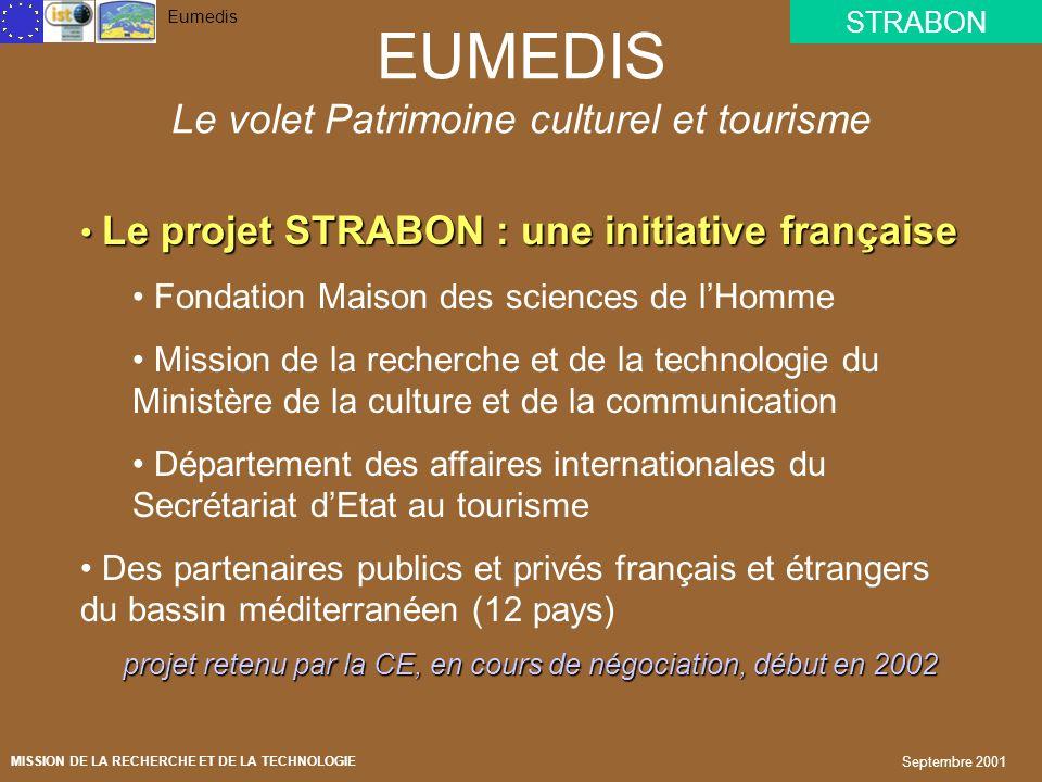 EUMEDIS Le volet Patrimoine culturel et tourisme