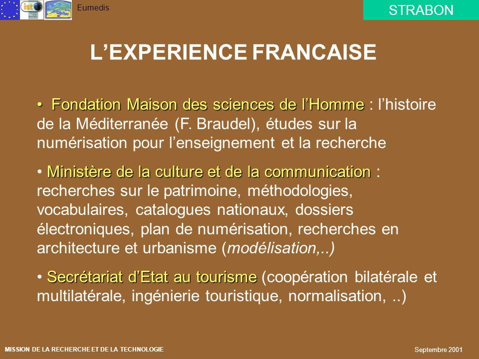 L'EXPERIENCE FRANCAISE