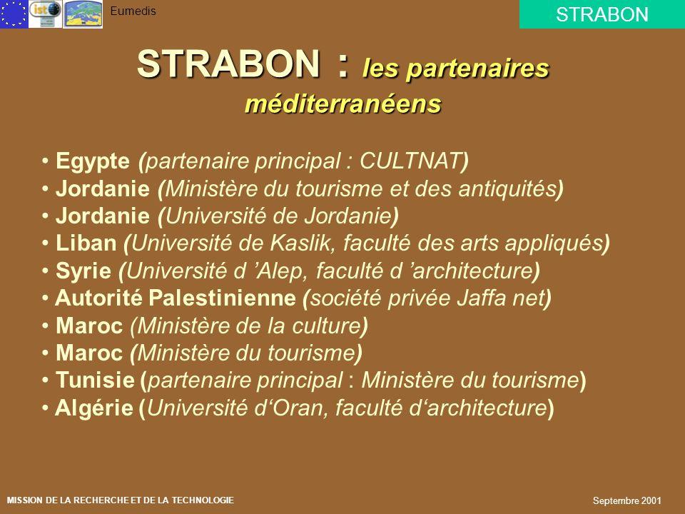 STRABON : les partenaires méditerranéens