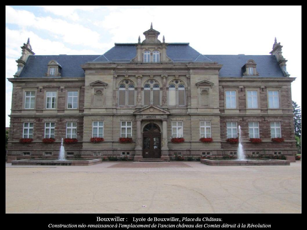 Bouxwiller : Lycée de Bouxwiller, Place du Château.