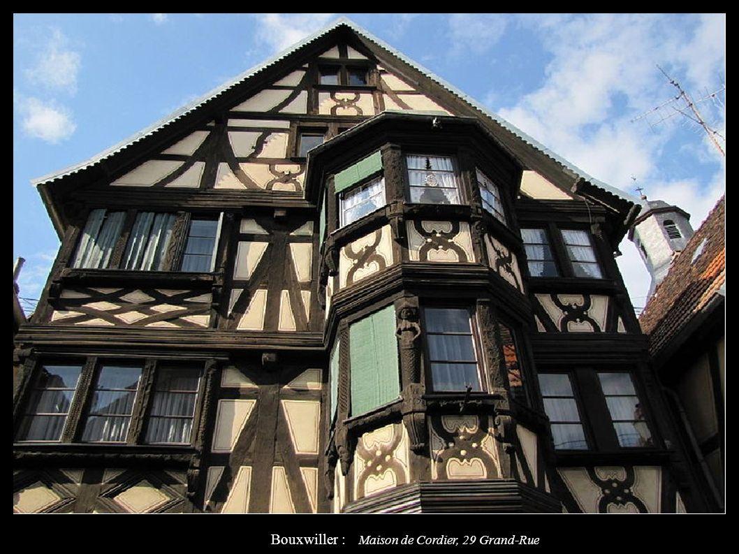 Bouxwiller : Maison de Cordier, 29 Grand-Rue