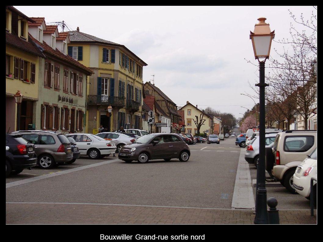 Bouxwiller Grand-rue sortie nord