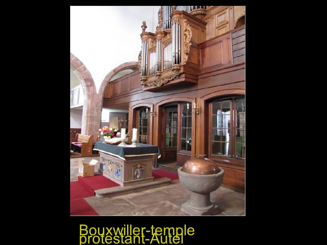 Bouxwiller-temple protestant-Autel