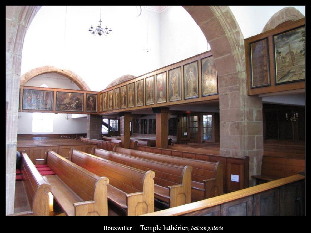 Bouxwiller : Temple luthérien, balcon galerie