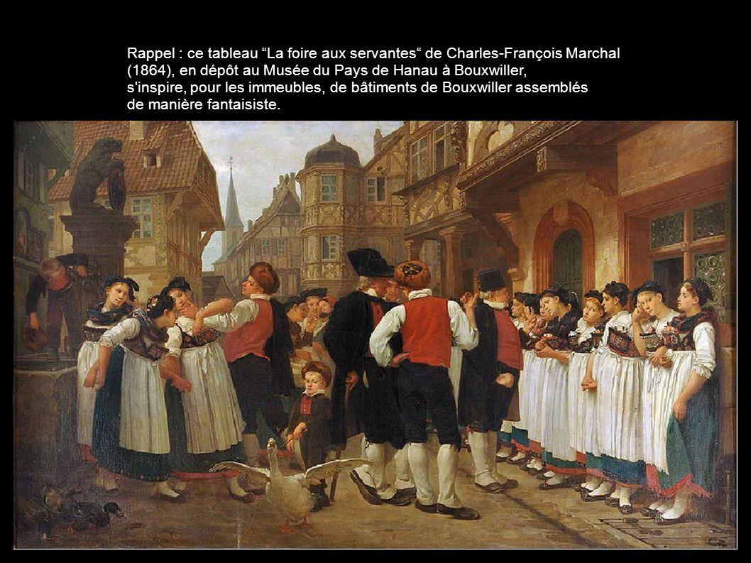 Rappel : ce tableau La foire aux servantes de Charles-François Marchal
