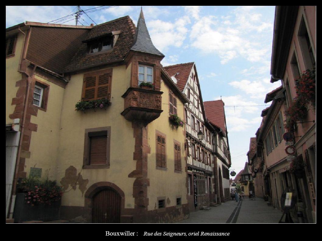 Bouxwiller : Rue des Seigneurs, oriel Renaissance