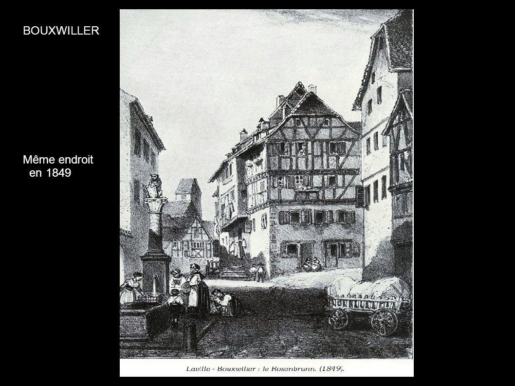BOUXWILLER Même endroit en 1849