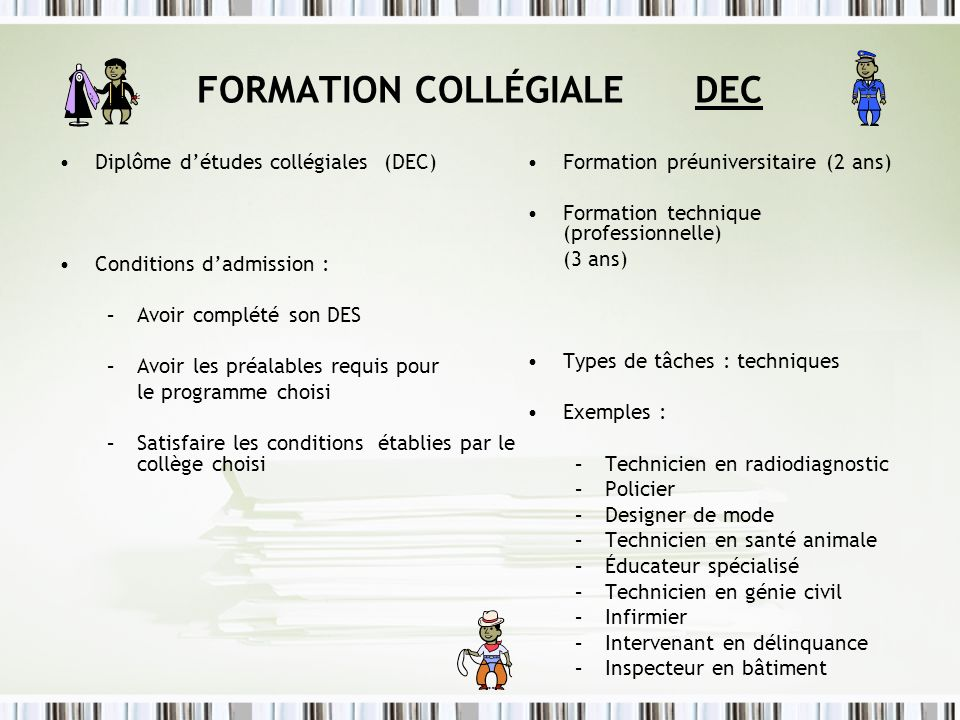 FORMATION COLLÉGIALE DEC