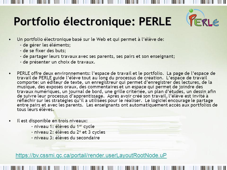 Portfolio électronique: PERLE