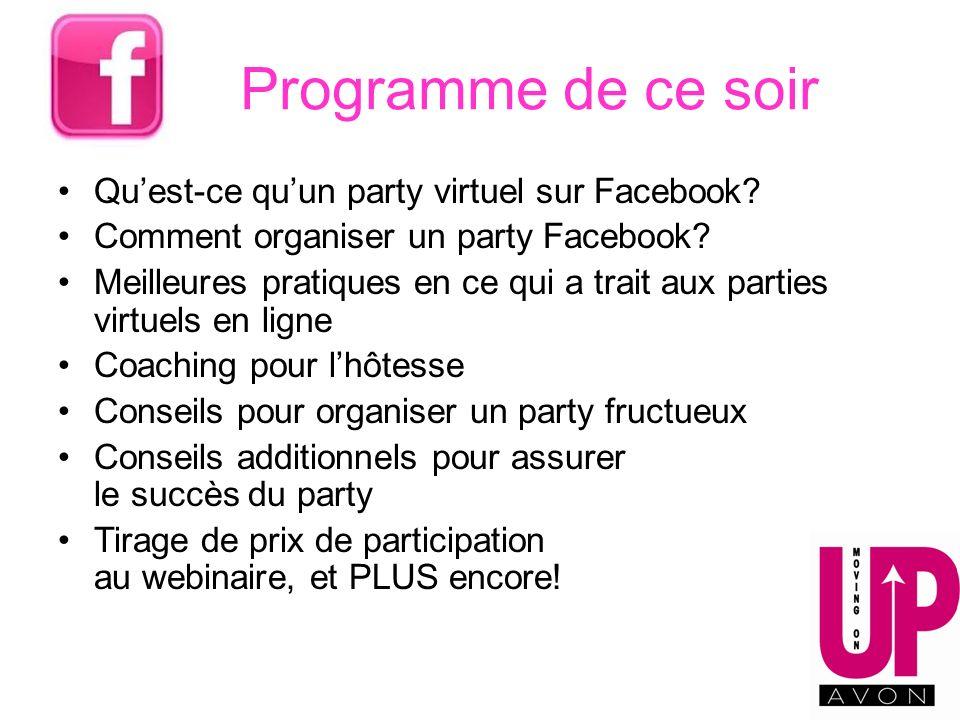 Programme de ce soir Qu'est-ce qu'un party virtuel sur Facebook