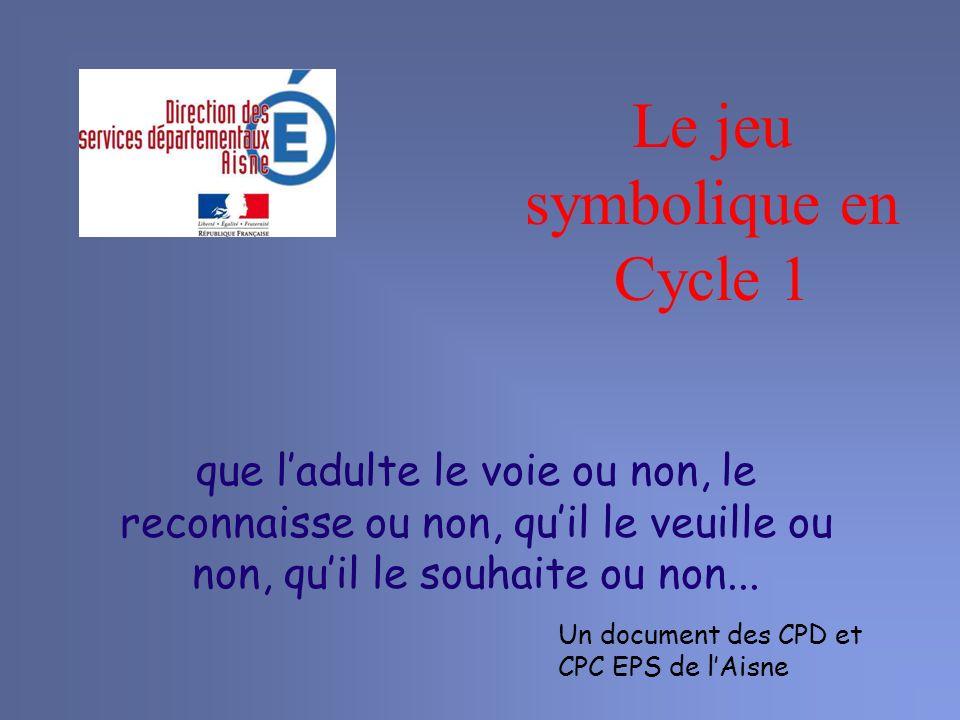 Le jeu symbolique en Cycle 1