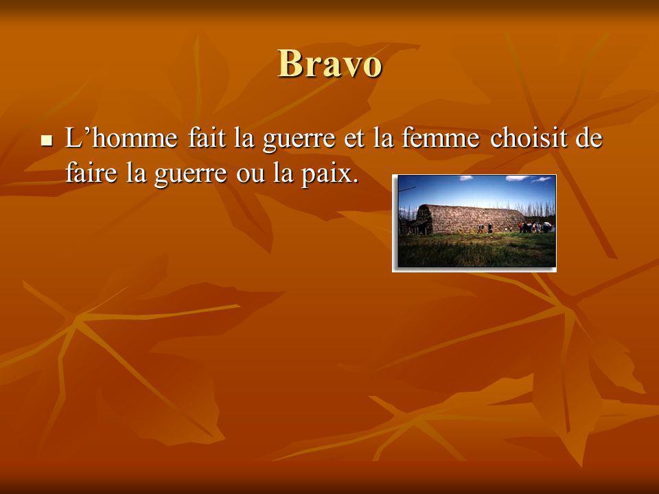 Bravo L'homme fait la guerre et la femme choisit de faire la guerre ou la paix.