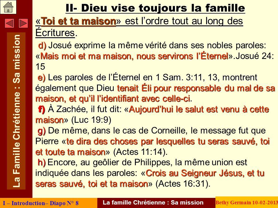 La famille Chrétienne : Sa mission