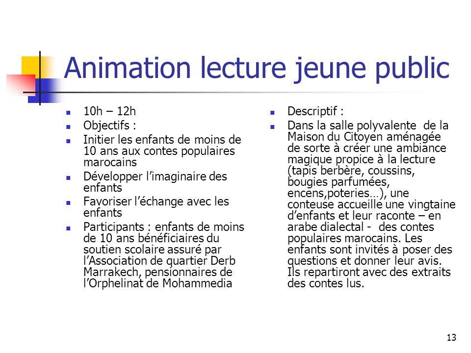 Animation lecture jeune public