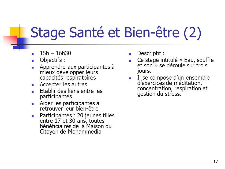 Stage Santé et Bien-être (2)
