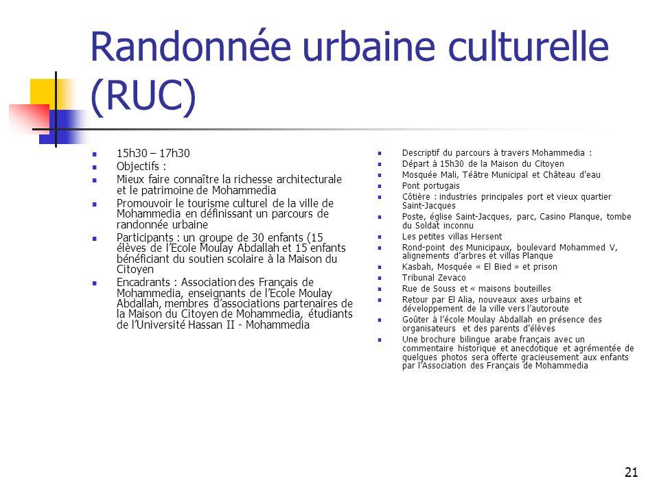 Randonnée urbaine culturelle (RUC)