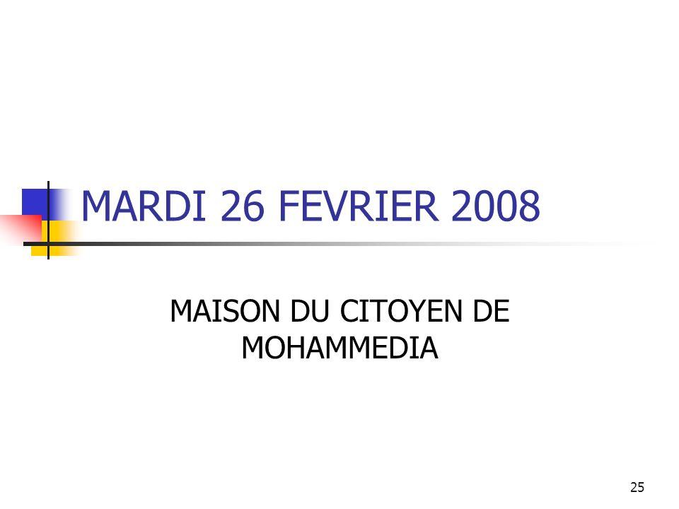 MAISON DU CITOYEN DE MOHAMMEDIA