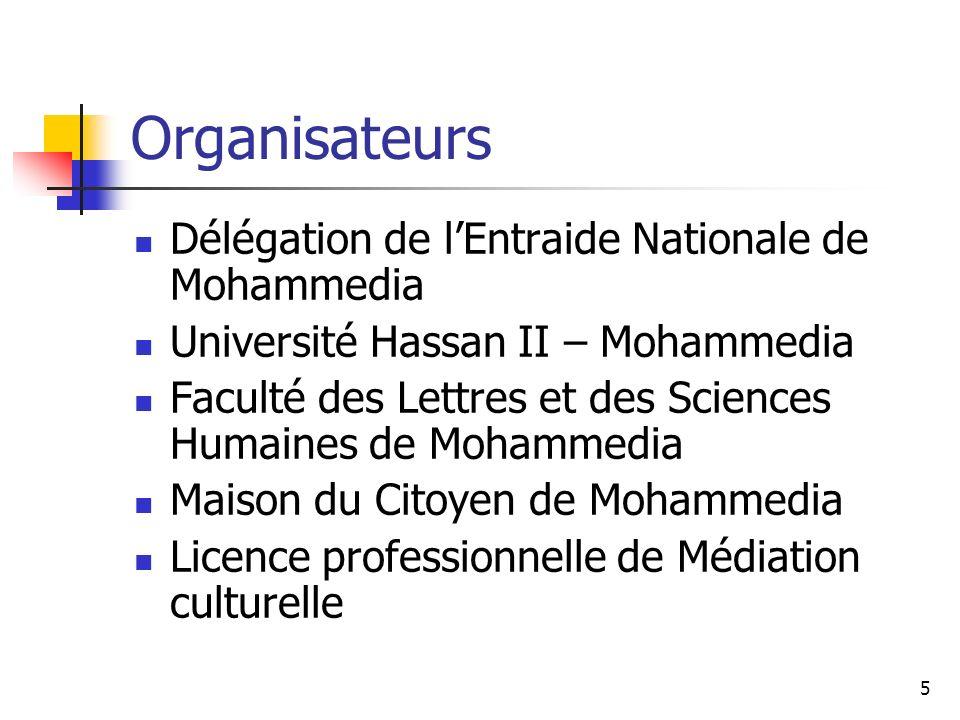Organisateurs Délégation de l'Entraide Nationale de Mohammedia