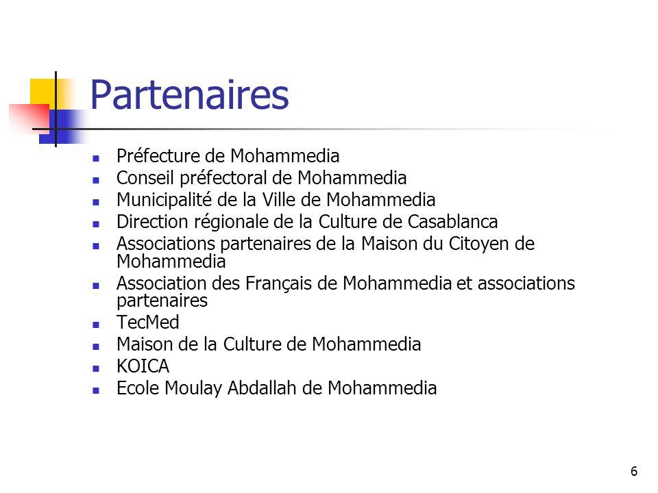 Partenaires Préfecture de Mohammedia Conseil préfectoral de Mohammedia