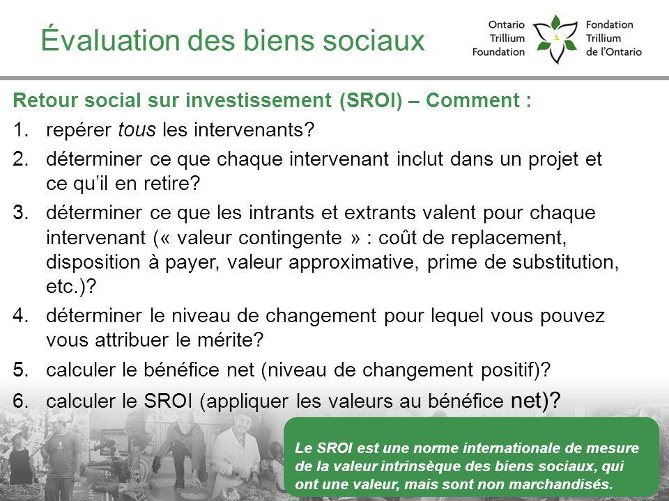 Évaluation des biens sociaux