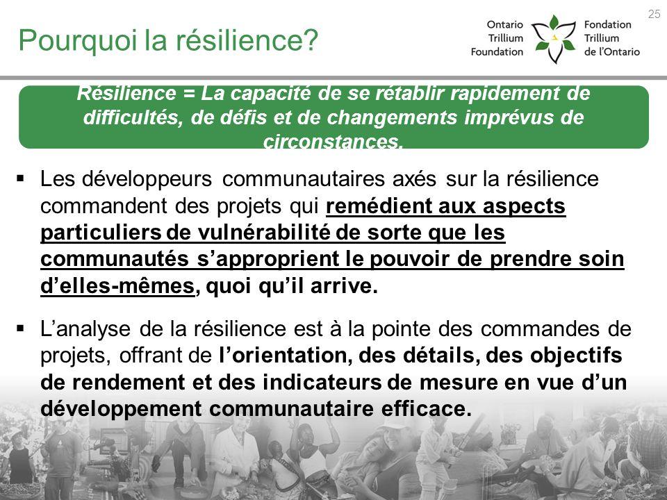 Pourquoi la résilience