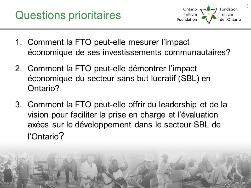 Questions prioritaires