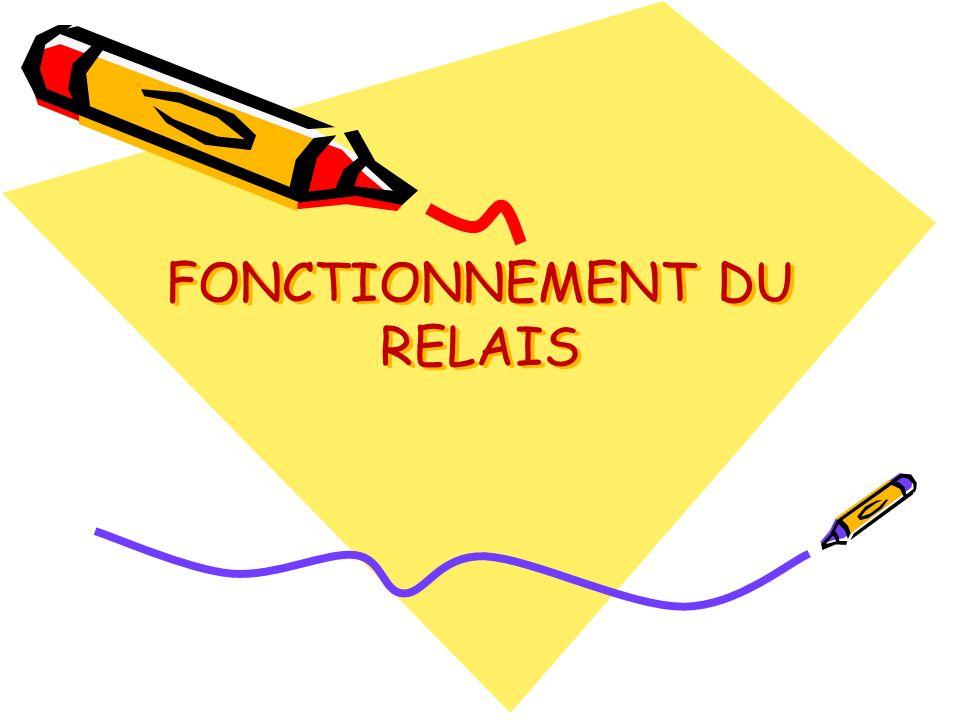 FONCTIONNEMENT DU RELAIS