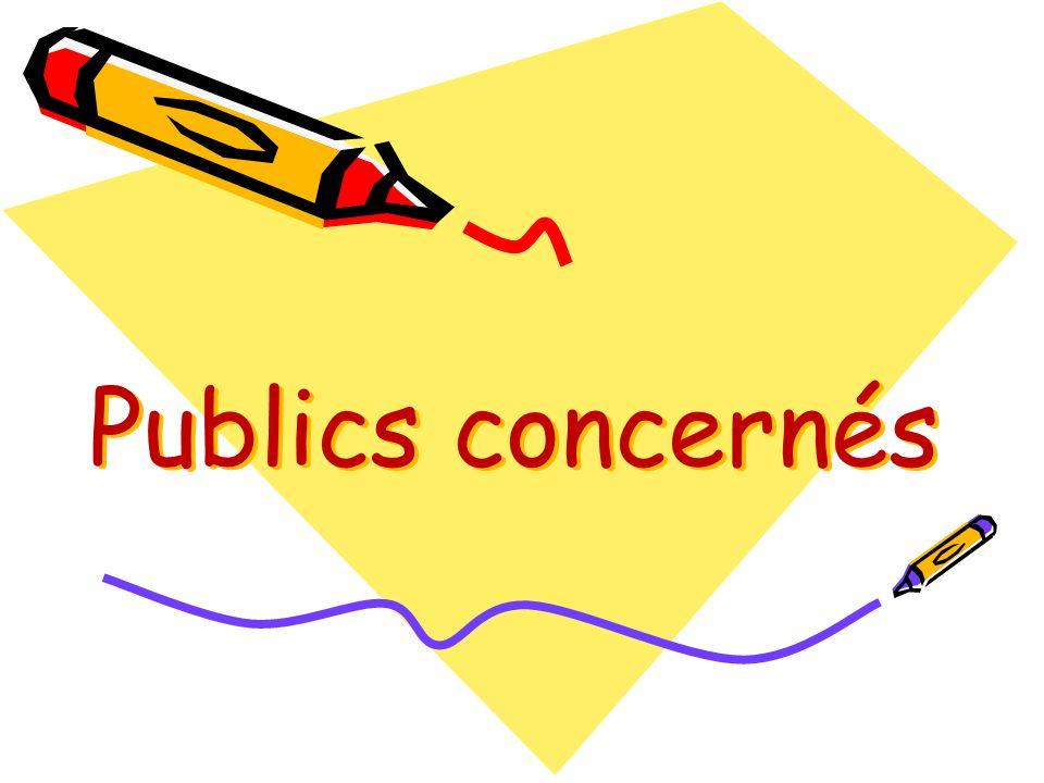 Publics concernés