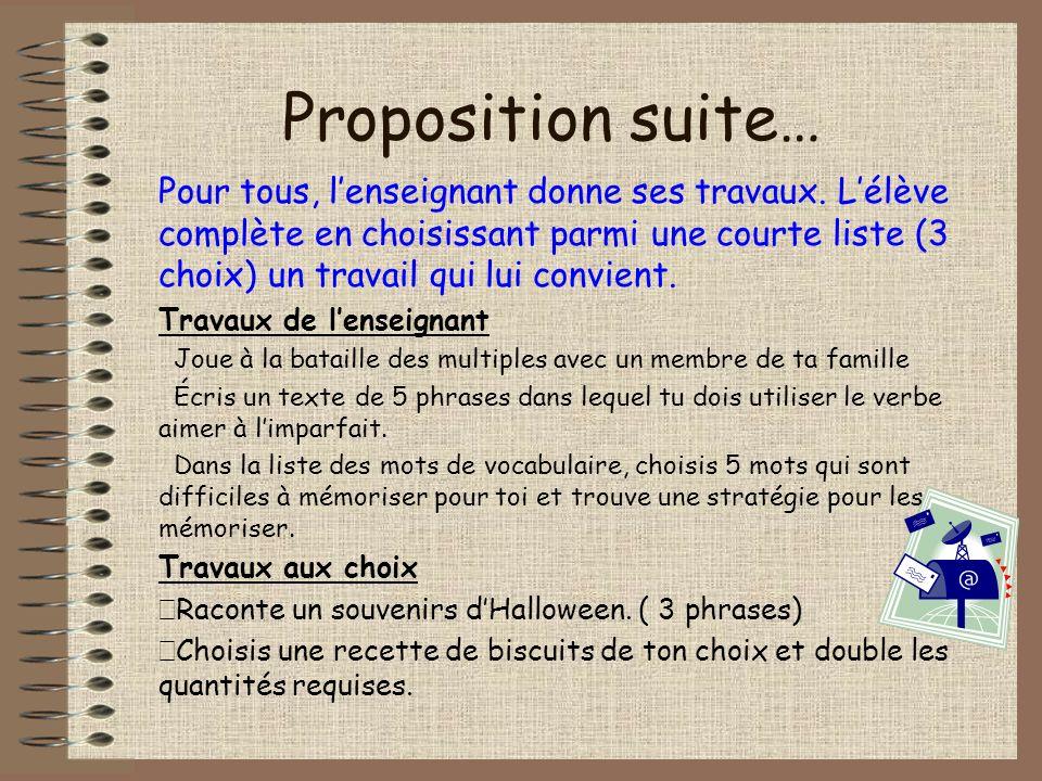 Proposition suite…