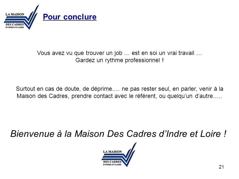 Bienvenue à la Maison Des Cadres d'Indre et Loire !