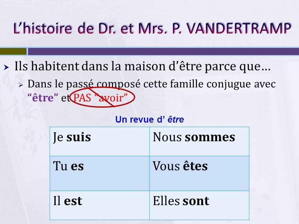 L'histoire de Dr. et Mrs. P. VANDERTRAMP