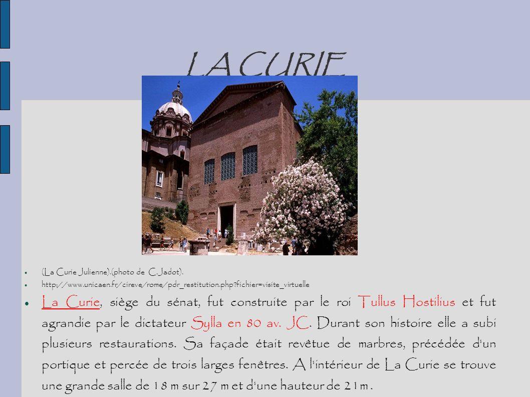 LA CURIE (La Curie Julienne).(photo de C.Jadot). http://www.unicaen.fr/cireve/rome/pdr_restitution.php fichier=visite_virtuelle.